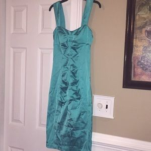 Teal Cache cocktail dress